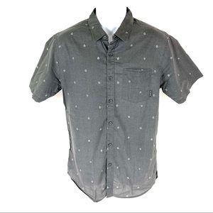 Billabong Men's Gray Button Front Shirt M